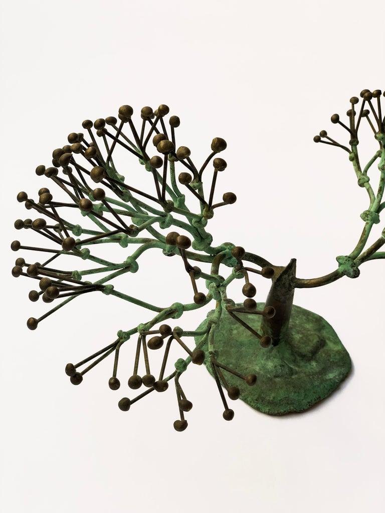 Rare patinated bronze bush form, circa 1970 Provenance: Mangel Gallery, Philadelphia, PA, 1970s; Descended in the family.