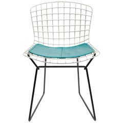 Harry Bertoia Child's Chair in White with Original Knoll Seat Pad, USA, 1960s