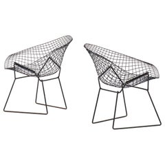 Harry Bertoia Diamond Easy Chairs Produced by Knoll in America