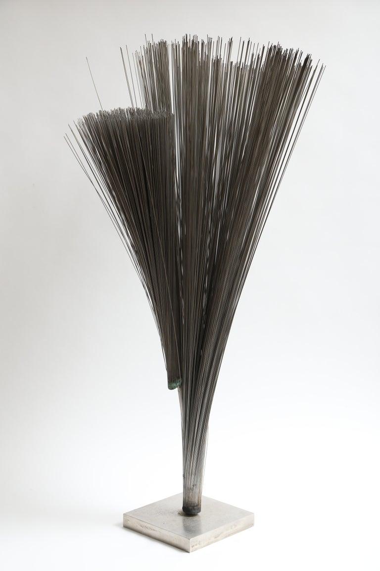 American Harry Bertoia Double Wire Spray Sculpture For Sale