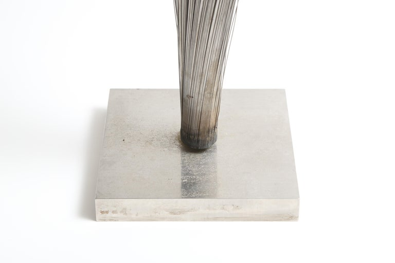 Harry Bertoia Double Wire Spray Sculpture In Good Condition For Sale In West Palm Beach, FL