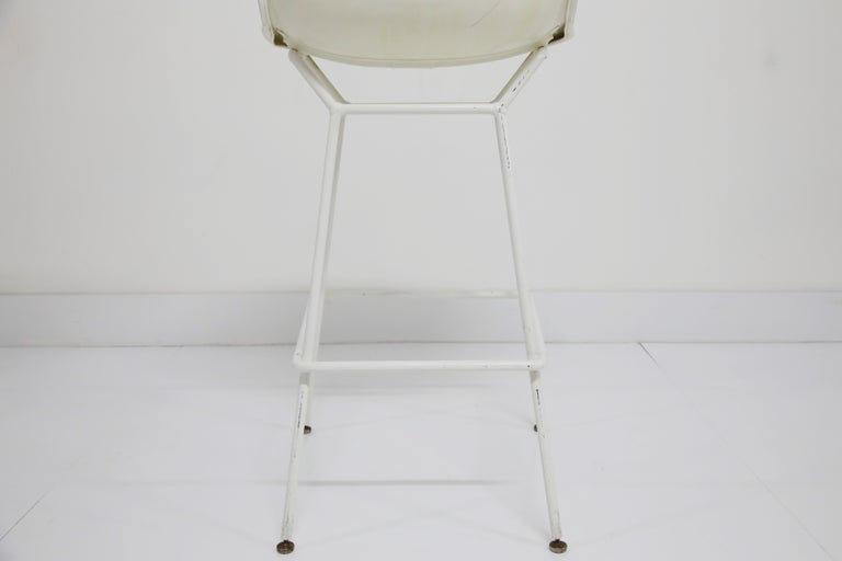 Harry Bertoia for Knoll Associates Molded Shell Stool, Signed First Generation For Sale 8