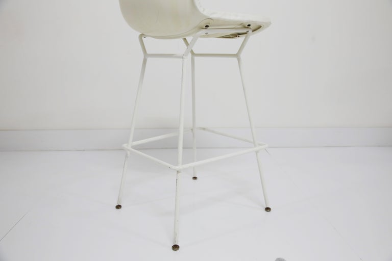 Harry Bertoia for Knoll Associates Molded Shell Stool, Signed First Generation For Sale 9