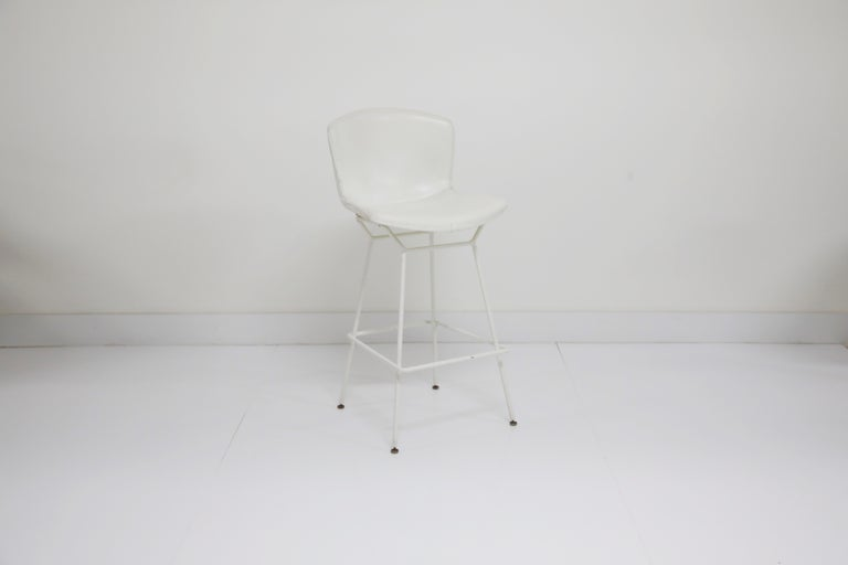 Mid-Century Modern Harry Bertoia for Knoll Associates Molded Shell Stool, Signed First Generation For Sale