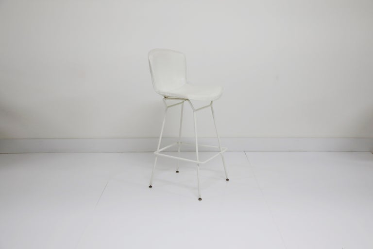 American Harry Bertoia for Knoll Associates Molded Shell Stool, Signed First Generation For Sale