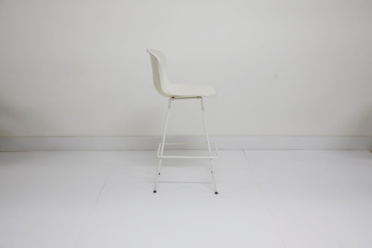 Powder-Coated Harry Bertoia for Knoll Associates Molded Shell Stool, Signed First Generation For Sale