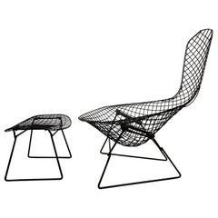 "Harry Bertoia for Knoll ""Bird Chair"" and Ottoman"