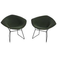 Harry Bertoia for Knoll Diamond Chairs with Full Cover, Labeled, Two Available