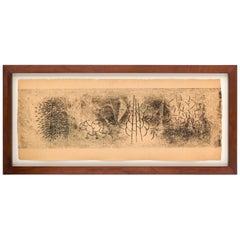Harry Bertoia Framed Monoprint on Rice Paper, USA, 1960s
