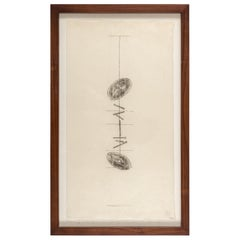 Harry Bertoia Framed Monotype on Rice Paper, USA, 1960s