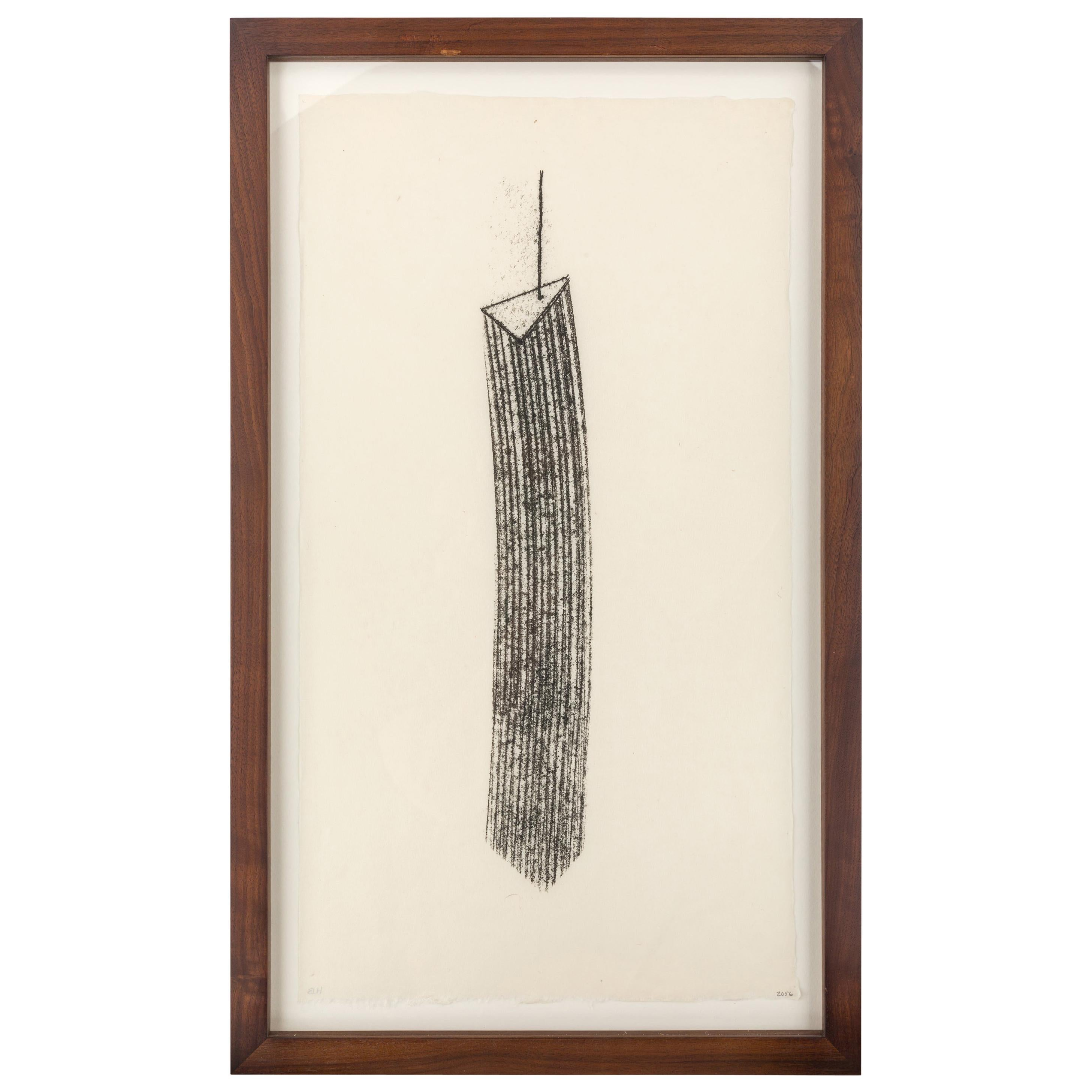 Harry Bertoia Framed Monotype on Rice Paper, USA 1960s