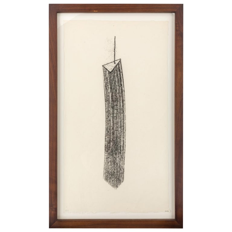 Harry Bertoia Framed Monotype on Rice Paper, USA 1960s For Sale