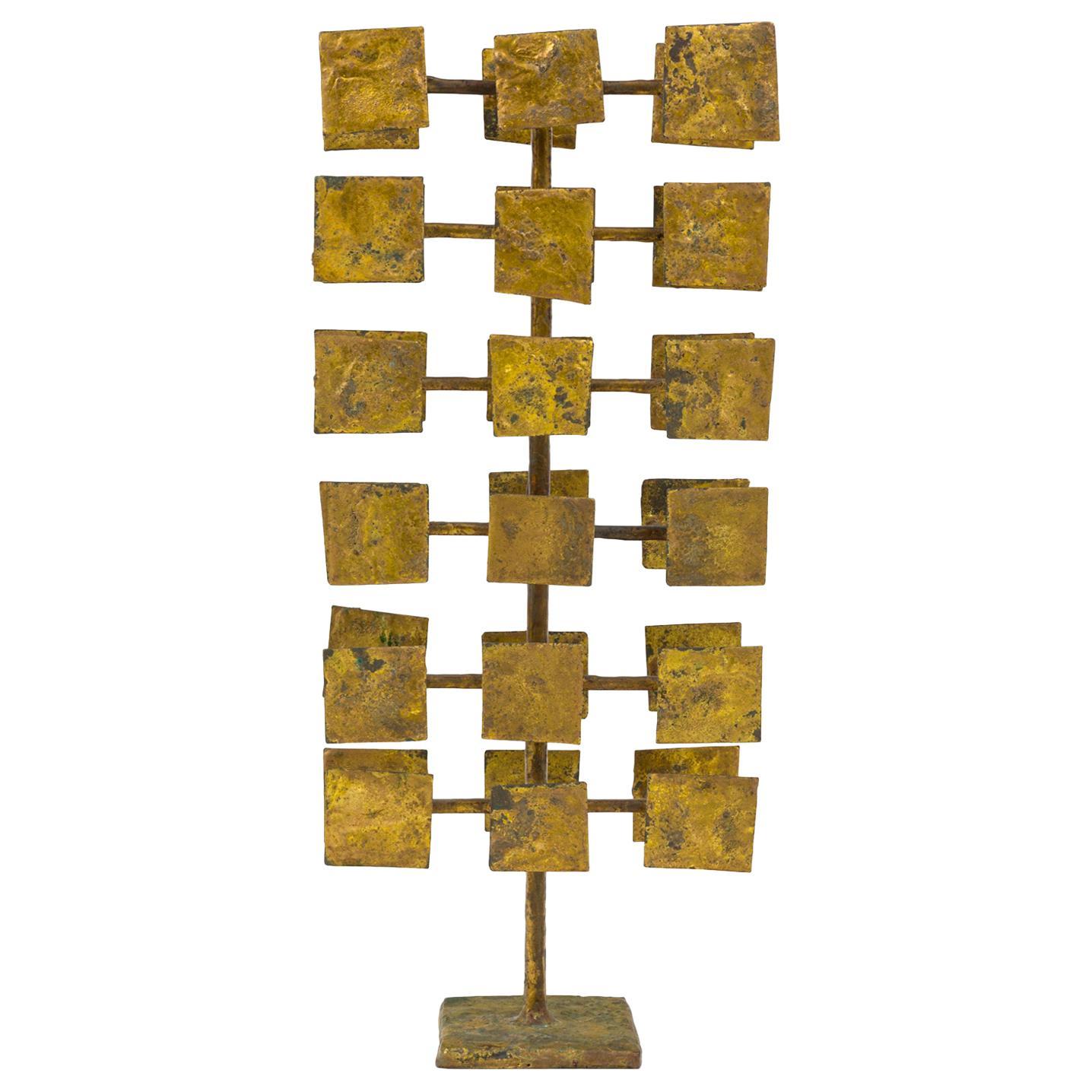 Harry Bertoia Maquette for Melt Coat Sculpture Screen for Bank of Miami, 1958
