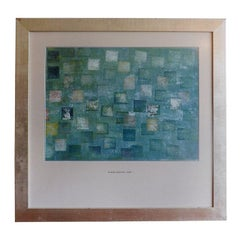 Harry Bertoia Multicolored Monotype in Silvered Frame