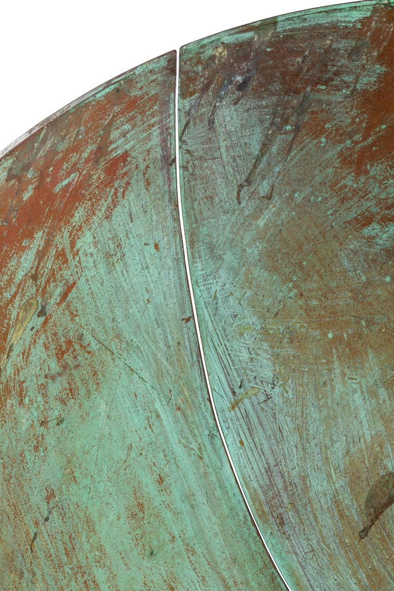 Late 20th Century Harry Bertoia Patinated Solid Bronze Gong Sculpture, USA 1970s For Sale