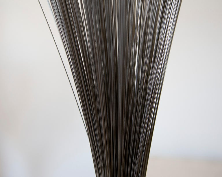 Light Spray - Gray Abstract Sculpture by Harry Bertoia