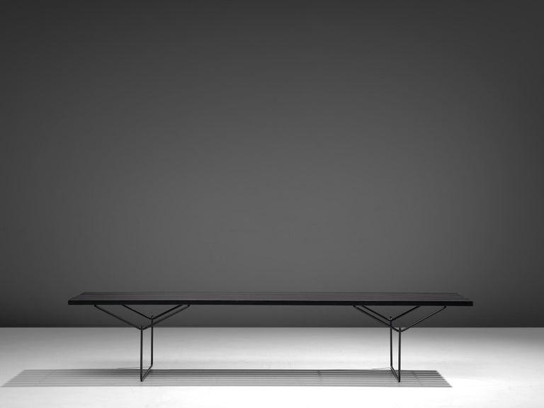 Mid-Century Modern Harry Bertoia Slat Bench for Knoll For Sale