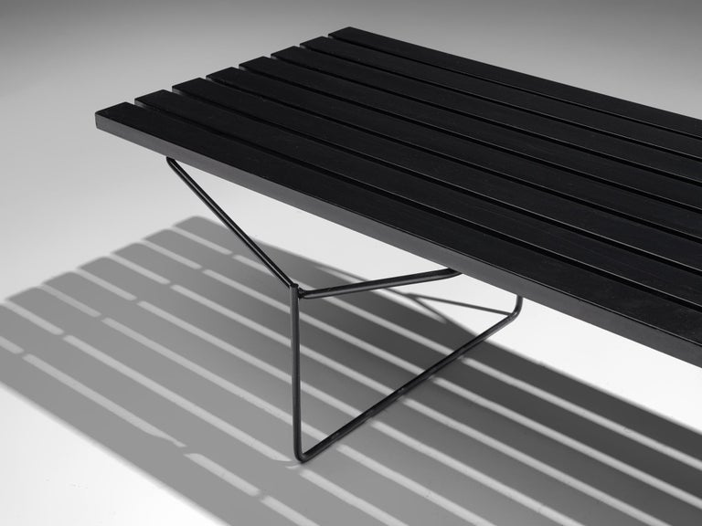 Mid-20th Century Harry Bertoia Slat Bench for Knoll For Sale