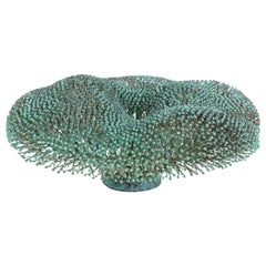 Harry Bertoia Welded Copper and Bronze Bush Sculpture with Applied Patina, 1975