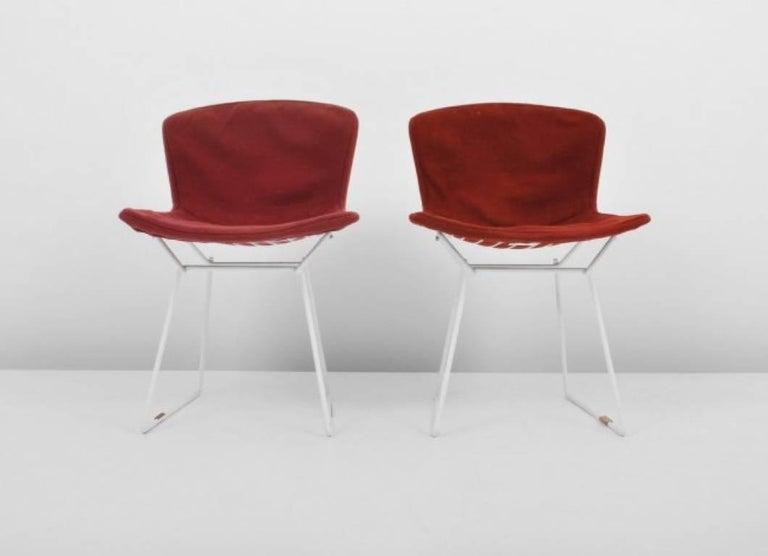 Mid-Century Modern Harry Bertoia Wire Chairs for Knoll International, Early Production Set of Six For Sale