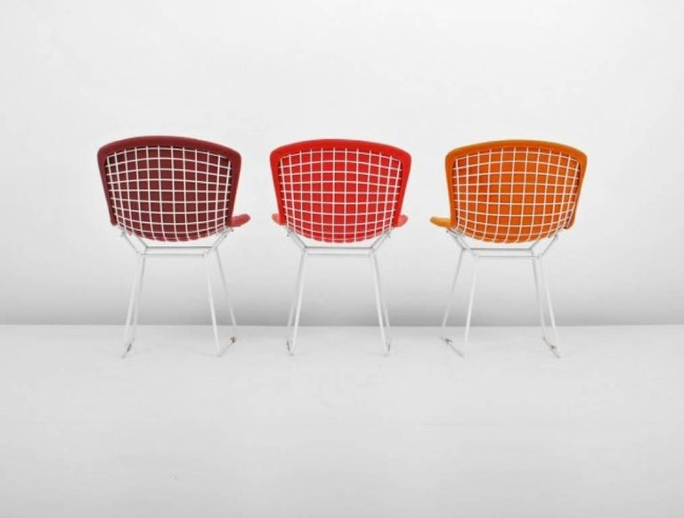 Powder-Coated Harry Bertoia Wire Chairs for Knoll International, Early Production Set of Six For Sale