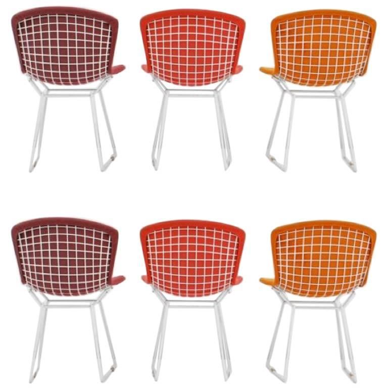Harry Bertoia Wire Chairs for Knoll International, Early Production Set of Six For Sale