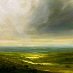 Harmony - Original landscape oil painting modern art 21st C