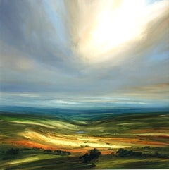 Indian Summer - original landscape oil painting contemporary-21st Century Art