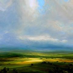 Lost Horizon - original landscape sky painting contemporary art 21st Century