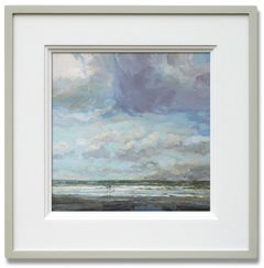 Morning Breeze - original seascape oil painting contemporary-21st C modern