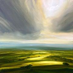 Seasonal Showers - original landscape countryside realism artwork contemporary