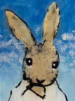 Harry Bunce, Sorry #122, Affordable Contemporary Art, Rabbit Art, Art Online