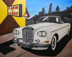 White Bentley Rolling Deep Through the East End, Laughing Gas Original, Signed