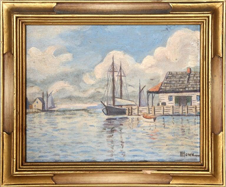 Harry H. Howe Landscape Painting - Wharf - Gloucester, Massachussetts