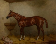 Portrait Of A Bay Racehorse, 19th Century