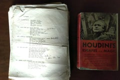 Original manuscript of Houdini's Escapes and Magic by Walter Gibson