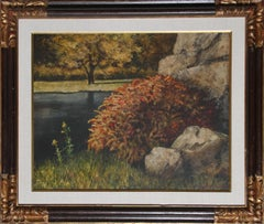 Barberry Bush, Oil Painting by Harry Lane