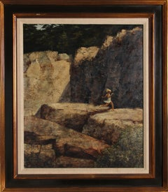 Running Girl, Oil Painting by Harry Lane