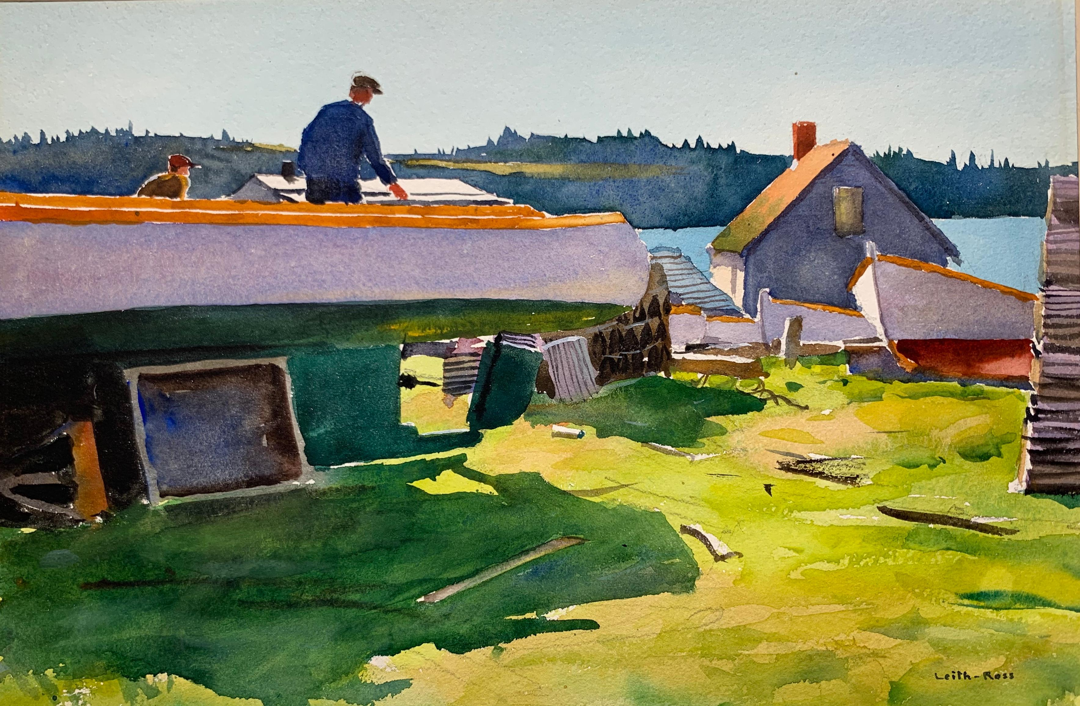 Boat Worker (New England landscape, New Hope Impressionist)