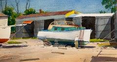 Boat Yard (PA Impressionist landscape)
