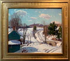 Harry Leith-Ross, Pidcock Creek Road, Bucks County, Oil on Canvas, ca. 1940's