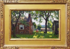 Harry Leith-Ross, Solebury Backyard, Oil on Canvas, ca. 1940's