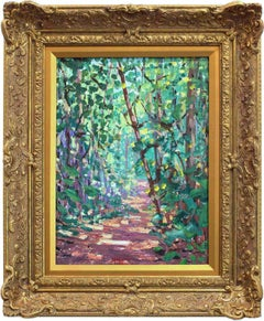 """""""A Trail in the Jungle - Kartabo, British Guiana"""" Impressionist Oil Painting"""
