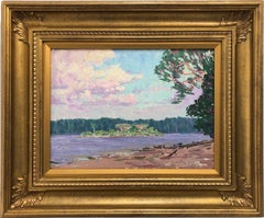 """Cayuni River, British Guiana"" Impressionist Landscape Oil Painting on Board"
