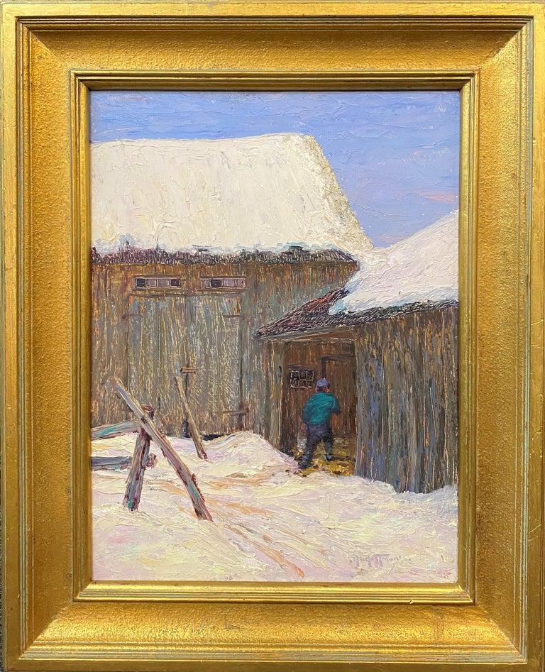 The Old Barn, Jackson - Art by Harry Leslie Hoffman