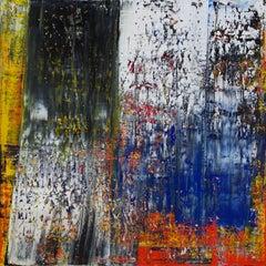 Abstract Black, White & Cobalt Blue #473