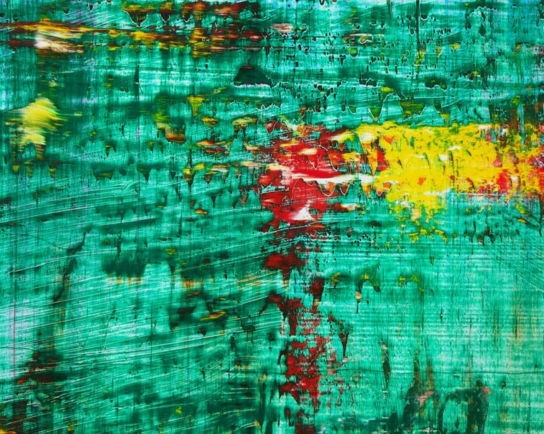 Abstract Green n°423 - Painting by Harry Moody