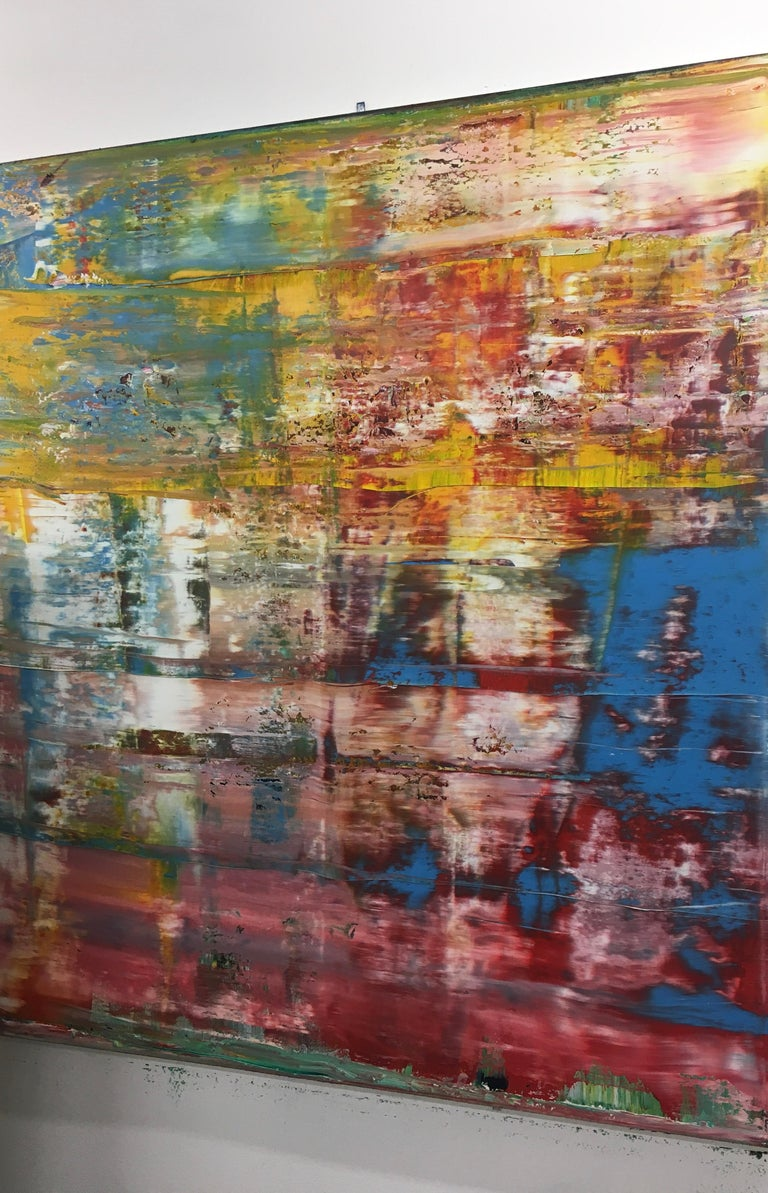 Large abstract blue red #349 - Painting by Harry Moody