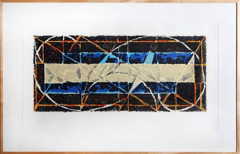 Harry Nadler Abstract Print - Large Abstract Screenprint by Nadler