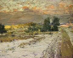 #5537 Road Past Betsy's Land: Impressionist En Plein Air Landscape Painting